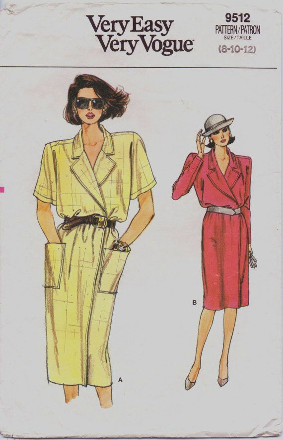 80s Very Easy Very Vogue Pattern 9612 Womens Wrap by CloesCloset, $8.00