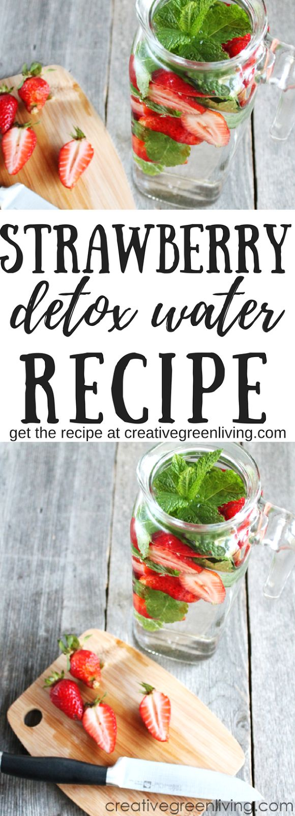 Strawberry Mint Infused Detox Water