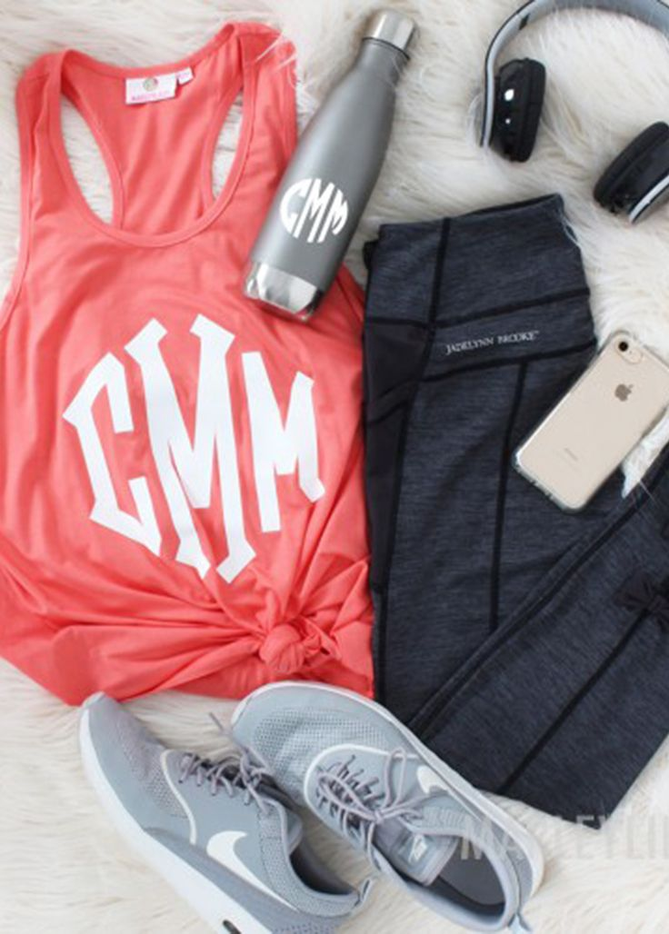 Working on that summer bod? Hit the gym in our Monogrammed Tank Top! Don't forget to hydrate too!