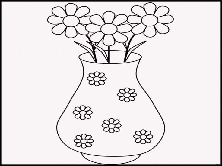 Картинки вазы для цветов шаблон