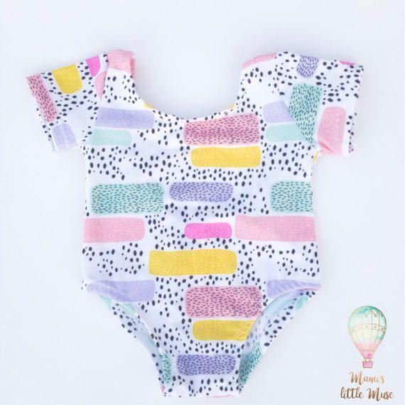 Toddler Leotard- Gymnastics Leotard, Baby Leotard, Abstrach Leotard, Dance Leotard, Birthday Outfit, Baby Girl Clothes