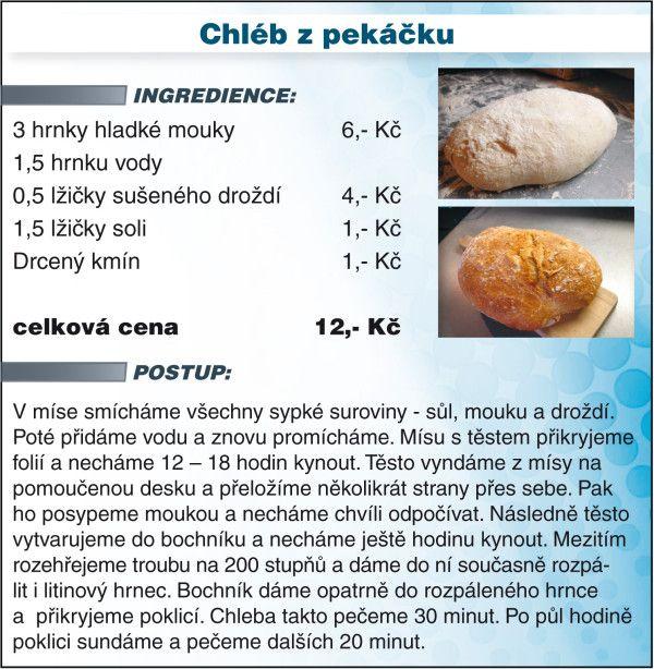 Recept - chleba