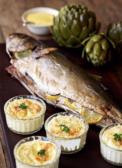 Lemon-baked Yellowtail Recipe paired with Sangiovese