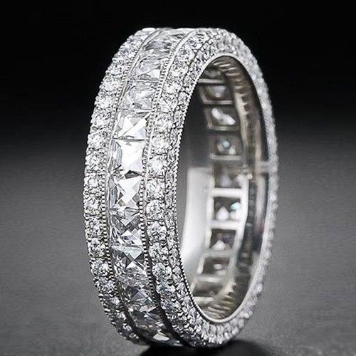 There is no such thing as too much BLING! Magnificent 18k White Gold Eternity Ring
