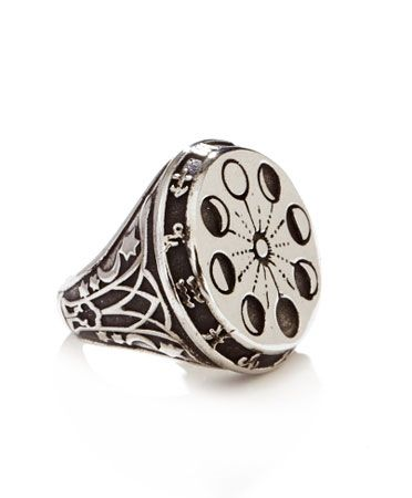 Silver Moon Phase Ring