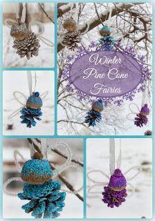 Pine Cone Winter Fairies