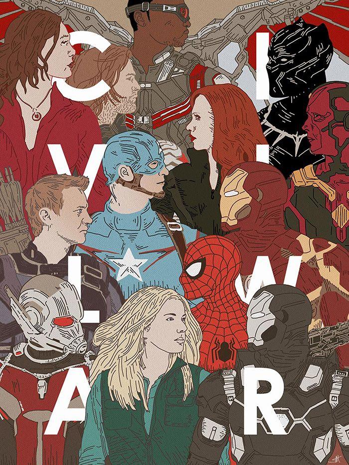 Captain America: Civil War by Sharm Murugiah - Home of the Alternative Movie Poster -AMP-