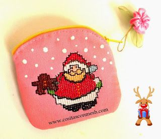How to cross stitch wallet
