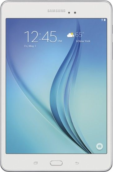 "Samsung - Galaxy Tab A - 8"" - 16GB - White - Front Zoom"