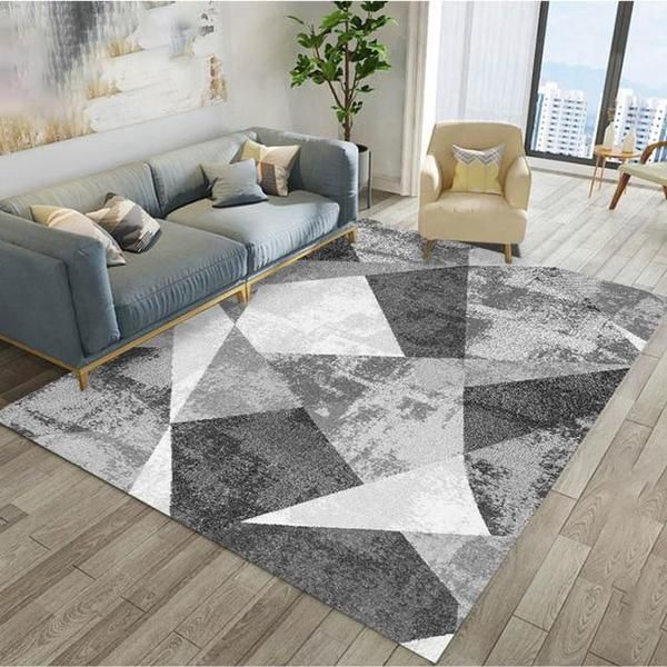 Aladin Grey And White Geometric Rug In 2020 Living Room Carpet Home Decor Rugs In Living Room