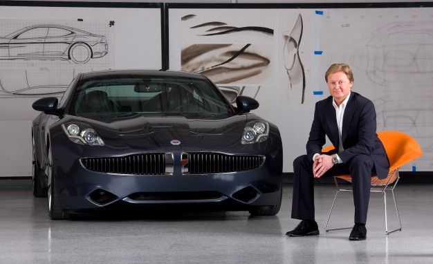 Henrik Fisker with the 2010 Fisker Karma ----- Car with Galpin at L.A. Auto Show 2014.