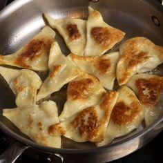 Kreplach: Jewish (Ashkenazi) potato-filled dumpling.