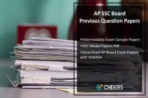 AP SSC Board Previous Question Papers Intermediate Sample/ Model Papers