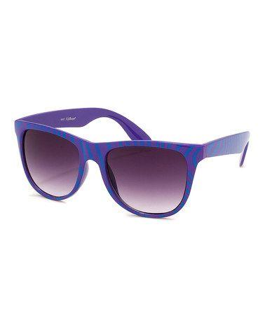 Look at this #zulilyfind! Turquoise & Purple Zebra Safari Sunglasses #zulilyfinds