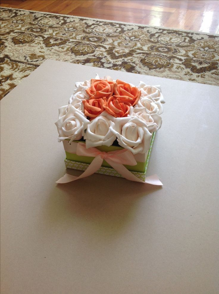 rose box, habrózsa doboz saját kezűleg
