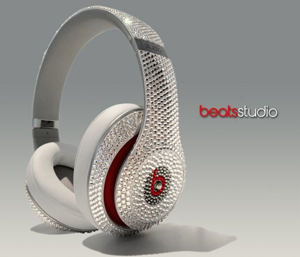 The Crystal Rocked Beats Studio Headphones are Blinged Out trendhunter.com