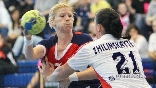 Great Britain handball captain Lynn McCafferty  insists opponents will start taking notice of her side after their narrow 24-16 loss to Russia.