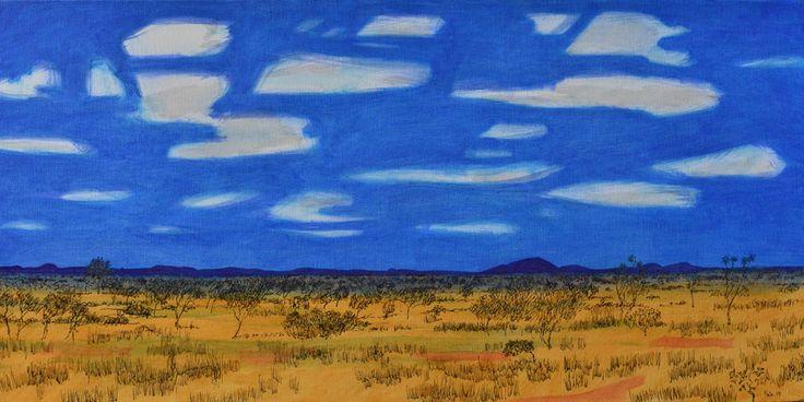 Scrub by artist Geoffrey Falk Ink & oil on canvas $100