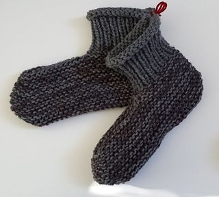 Free Knitting Patterns For Worsted Weight Yarn : Easy slippers knit flat with 2 strands of worsted weight yarn. Knitted slip...