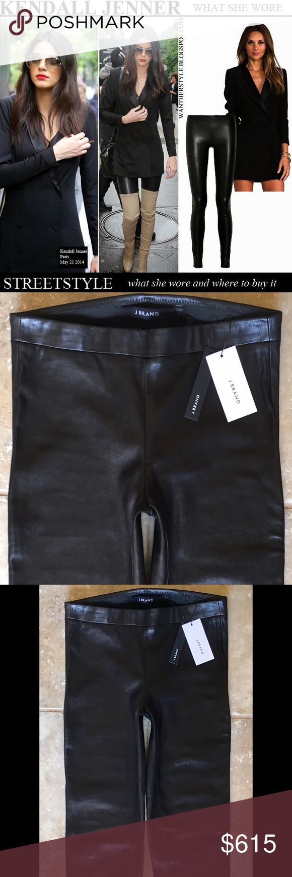 J Brand Edita Pull-Up Leather Legging Sz S Luxury minimalism! Spotted on countless celebs! These sleek leather leggings look just as AMAZING with sneakers as they do with statement blouses & stilettos! Feature a simple pull-on style, an elastic waistband, and hi-sheen stretch leather. Sooooo CHIC! BNWT!! J Brand Pants Leggings