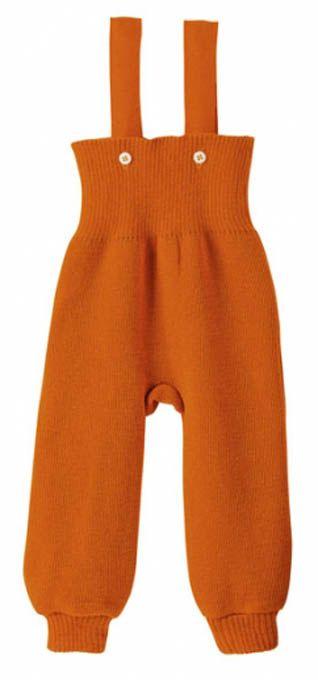 DISANA - Salopette tricotée en pure laine mérinos bio, ORANGE - VÊTEMENTS BIO/Vêtements en laine tricotée DISANA - MaMoulia