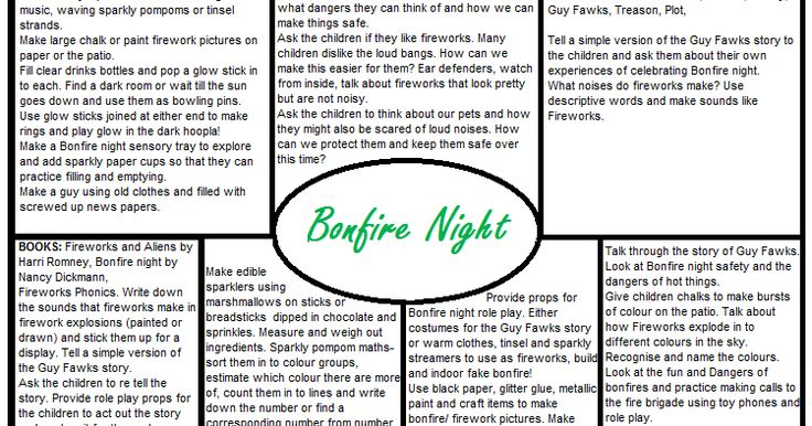 Worms Eye-View: BONFIRE NIGHT EYFS PLANS!