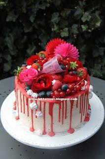 lekker zoet: Rood en een beetje roze voor Denise 20 jaar geword...