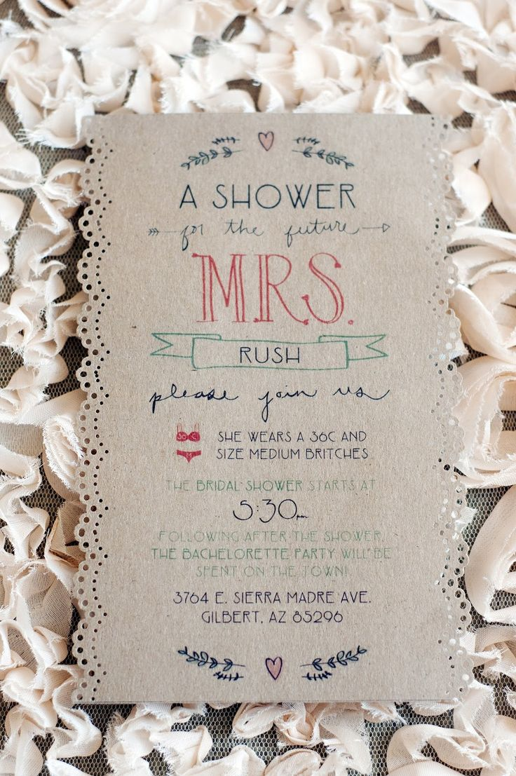 bridal shower invitation pictures%0A Handmade Wedding Ideas Bridal Shower Invite and Reception