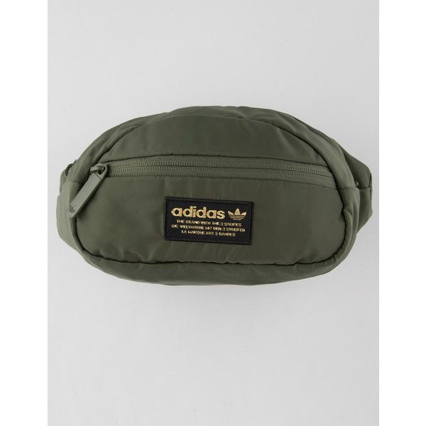 Adidas Originals National Fanny Pack ($25) ❤ liked on Polyvore featuring bags, belt bag, embroidery bag, waist bag, hip fanny pack and fanny pack bags