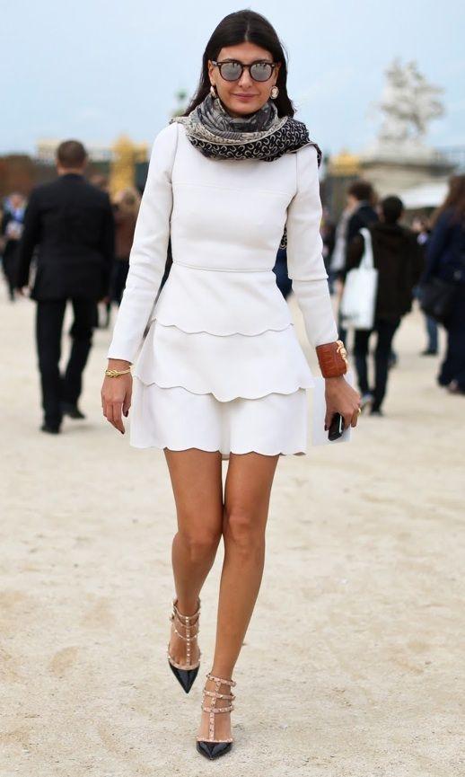 Giovanna BattagliaShoes, Fashion, Giovannabattaglia, Street Style, Giovanna Battle, Style Icons, Kittens Heels, White Dresses, The Dresses