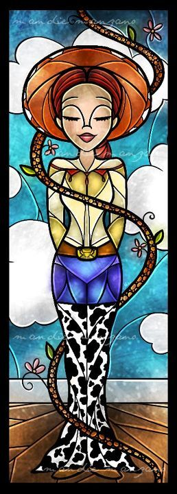 Stained glass art .... straight from Toy Story!