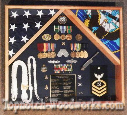 US Navy shadow box