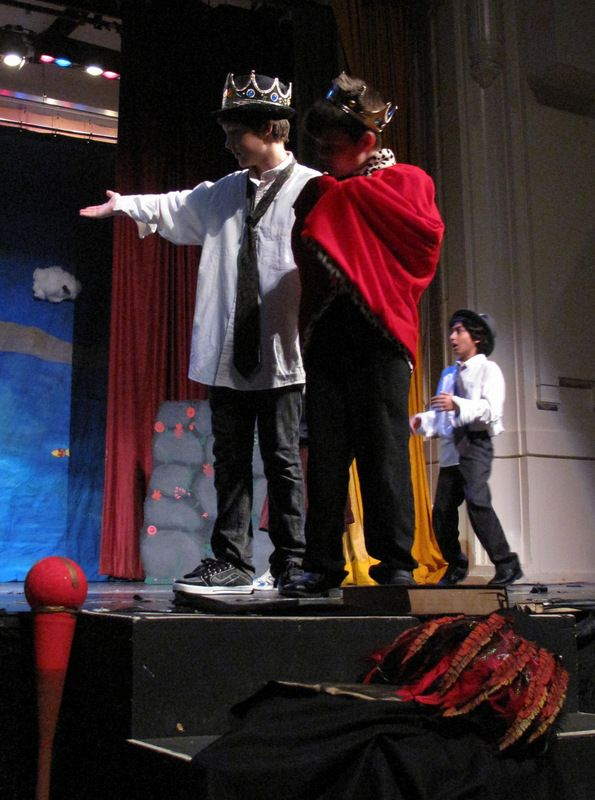 "#Prospero (left) and #KingAlonso.  Prospero: ""I have lost a daughter."" -Summer Camp 2013 #TheTempest #Shakespeare #Kids #SummerCamp #Camp #Acting Camp #DramaCamp #Toronto #Kids #Children #Youth #Education"