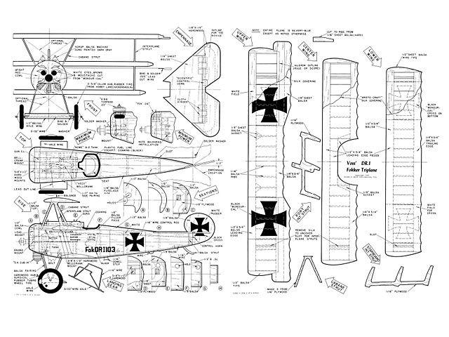 Fokker DR1 Triplane - plan thumbnail