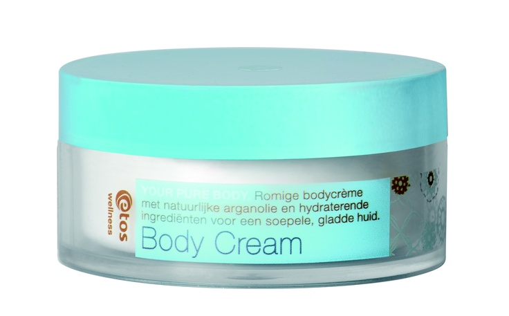 Romige bodycrème met natuurlijke arganolie en hydraterende ingrediënten voor een soepele, gladde huid. Etos Wellness Your Pure Body Body Cream, 200 ml - € 7.99