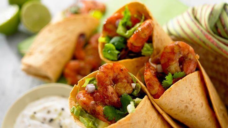 Burritos med marinerte reker - Oppskrifter - Old El Paso No