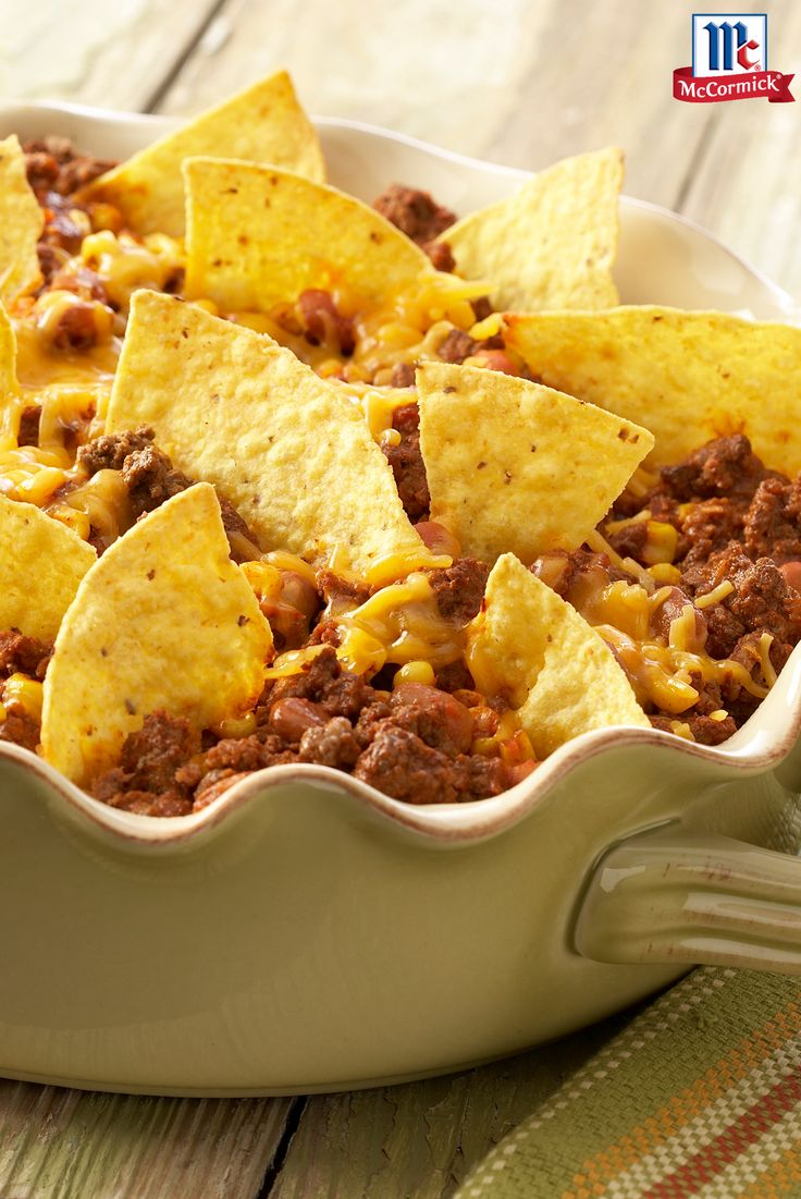 All the great flavors of tacos in one delicious dish. This weeknight taco casserole recipe is a 30 minute meal that your family is sure to love.