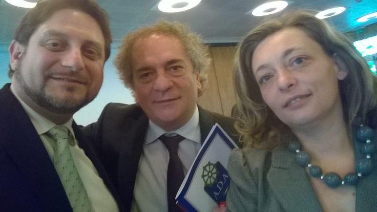 Con Umberto Giordano e Cinzia Rosati