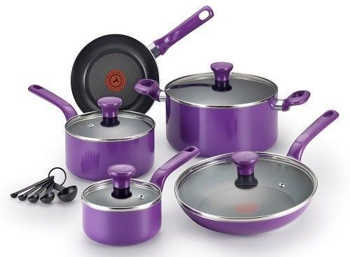 Non Stick Modern Cookware Set Thermo Spot Pots And Pans Dishwasher Safe 14-Pcs #CookwareSet