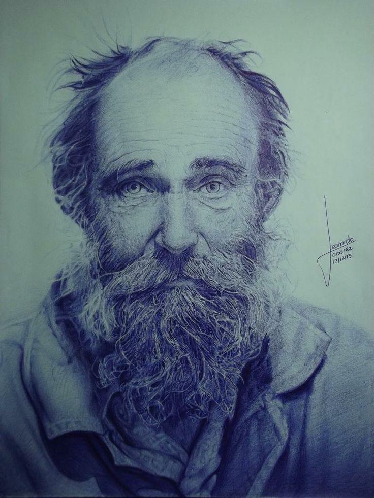 Autor: Leonardo Abarez. Dibujo a boligrafo. Adicion.