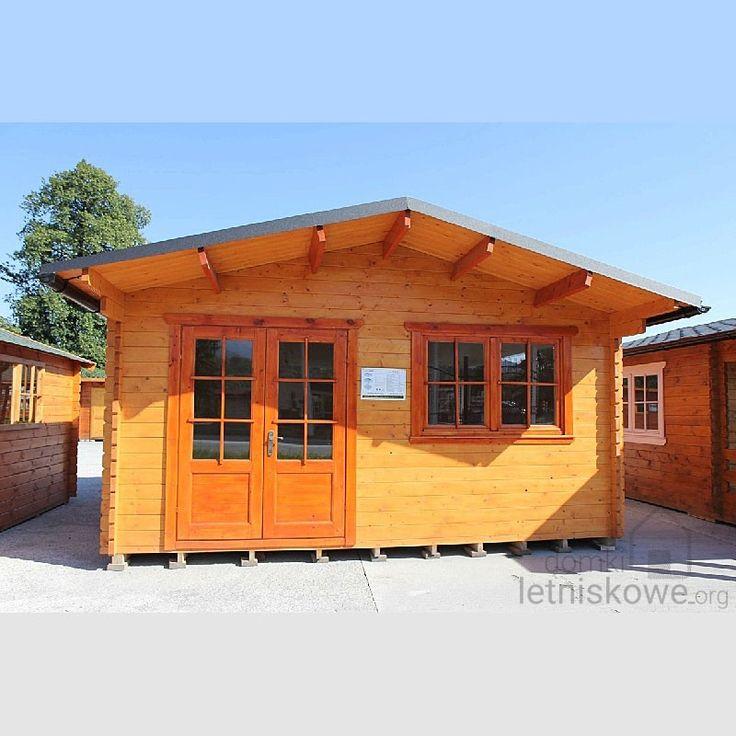 Domek drewniany (Wooden house) Majka 5x5 22 m2