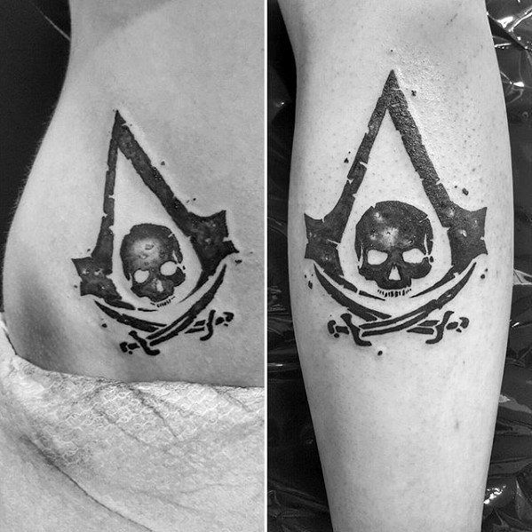 60 Assassins Creed Tattoo Designs For Men – Video Game Ink Ideas
