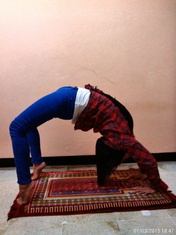 In looove with Wheel Pose… #Namaste #YogaPractice