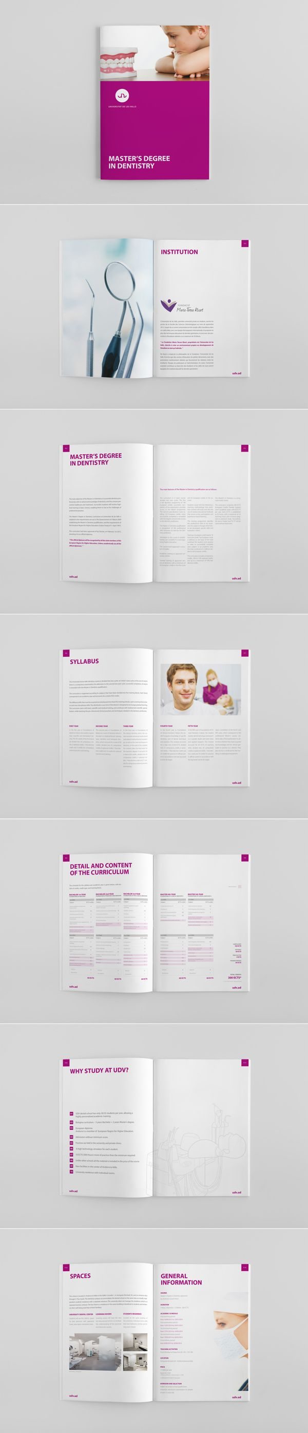 Dental Medicine brochure for UDV Universitat de les Valls by Roger Cortés, via Behance