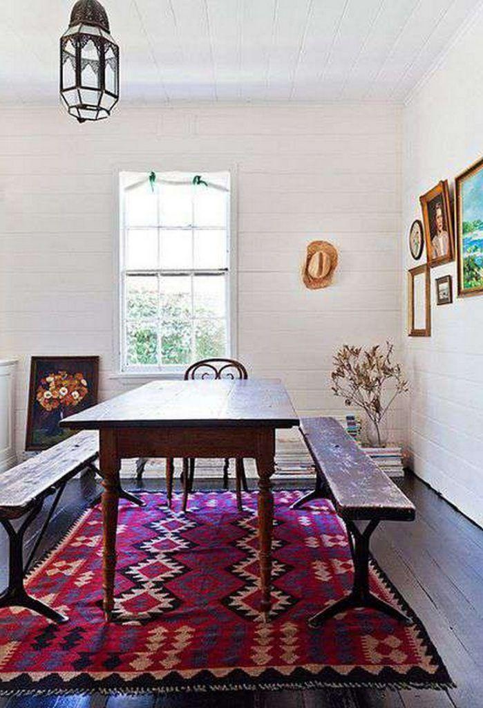 45 Creative Rustic Rug Carpet Ideas Dining Room Design Chic