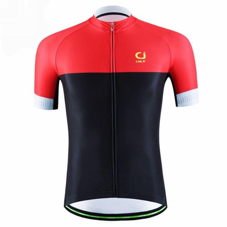 CHEJI men bike jerseys Top pro cycling jerseys mtb team bicycle shirts clothing ropa ciclismo Red Black cycling short wear