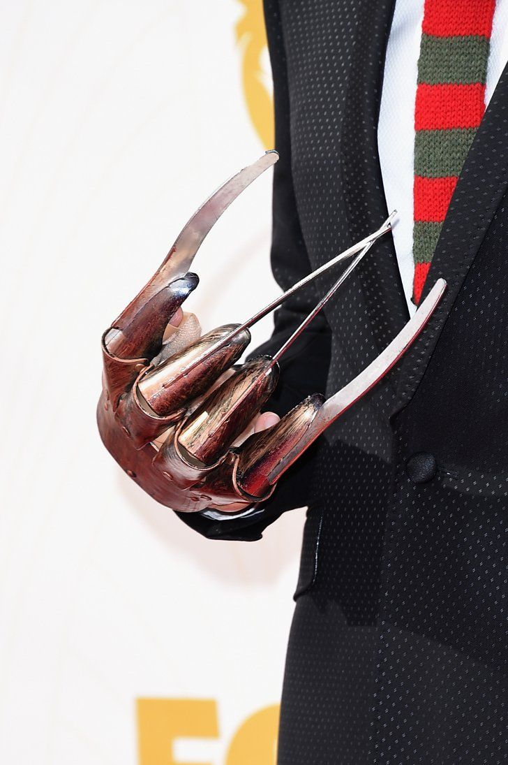 Pin for Later: Here's the Unusual Reason Fred Armisen Has a Freddy Krueger Hand at the Emmys  Flex 'em.