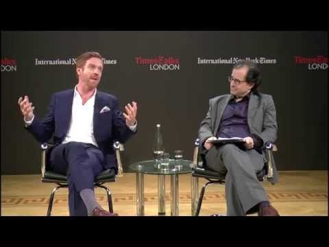British Accent. Actor Damian Lewis.  Lewis was born in St John's Wood, London, England. Spent summers in USA as a child.  | Interview | TimesTalks London - YouTube