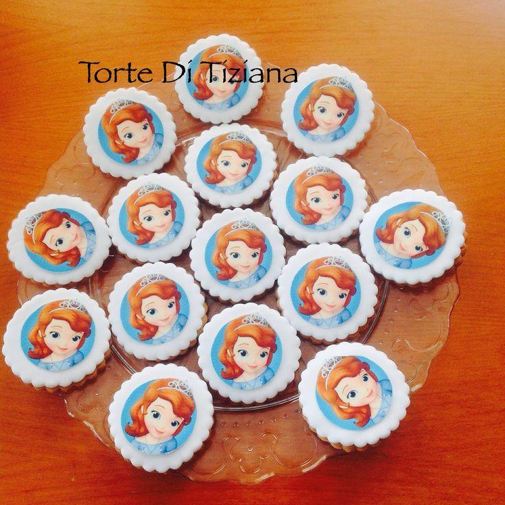 Biscotti decorati principessa Sofia