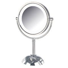 "Exceptional Quality makes this a Makeup Mirror to seriously consider!  It has an 8 1/2"" mirror with 1x and 8x magnification.  The LED Halo bulbs provide even lighting!  This is truly one of the best Vanity Makeup Mirrors and is moderately priced!"